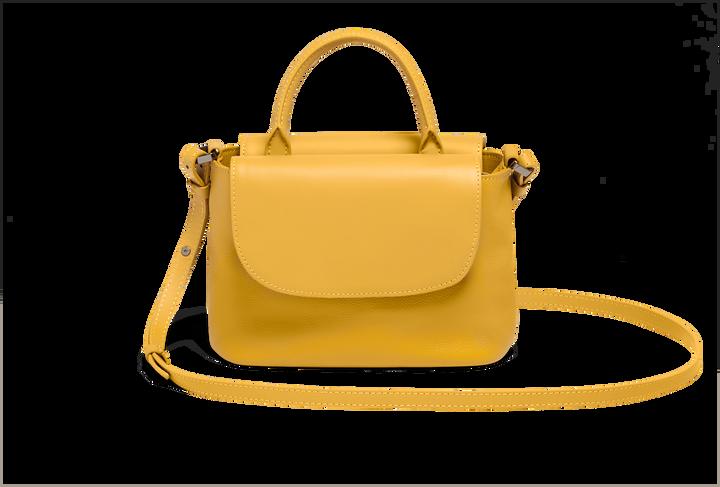 Plume Elegance Handväska Mustard   3