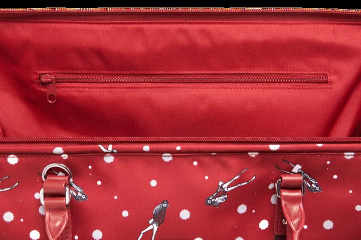 Izak Zenou Collab Weekend Bag M Pose/Garnet Red   4