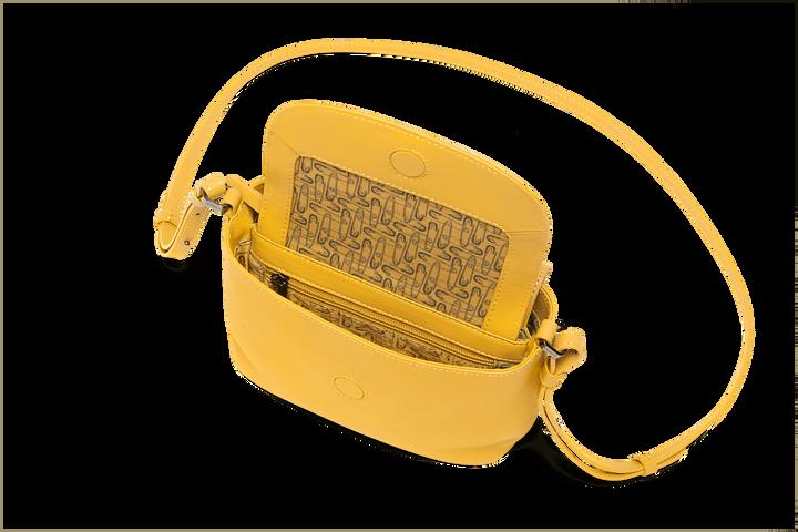 Plume Elegance Handväska Mustard   2