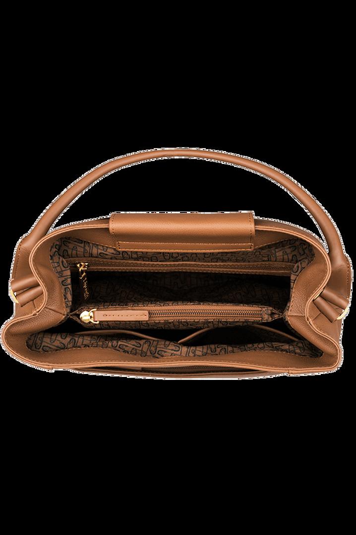 Plume Elegance Hoboväska Cognac   2