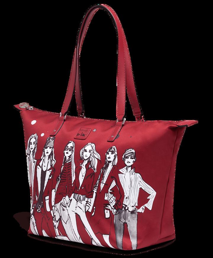 Izak Zenou Collab Shoppingväska M Pose/Garnet Red   3