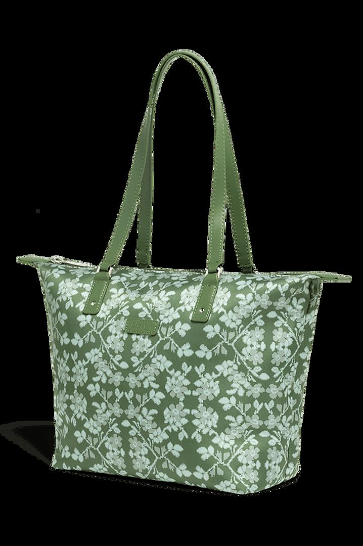 Fall For You Shoppingväska S Kaki/Aquagreen/Flowers | 3
