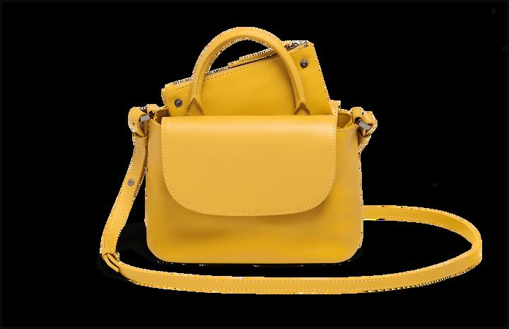 Plume Elegance Handväska Mustard   5