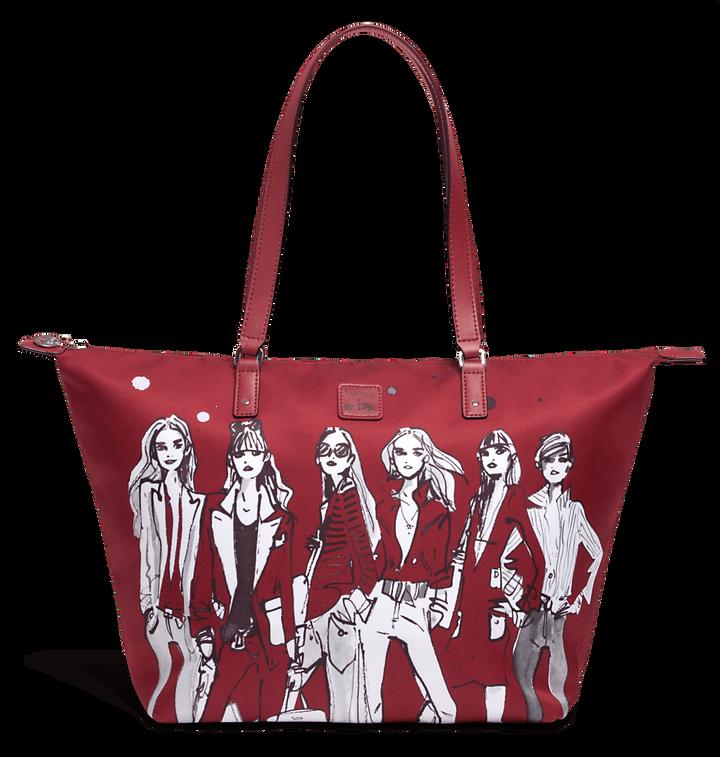 Izak Zenou Collab Shoppingväska M Pose/Garnet Red | 1